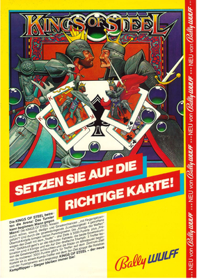 "deutscher Flyer ""Kings of Steel"" von Bally"