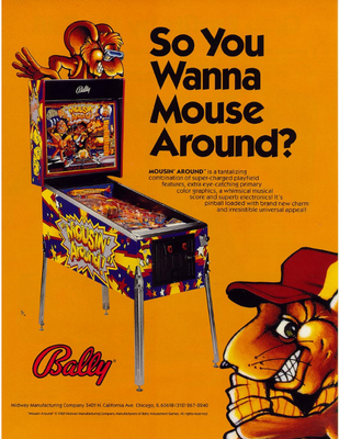 "Flyer ""Mousin' Around"" von Bally"