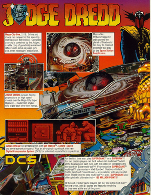 "Flyer ""Judge Dredd"" von Bally"