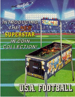 """Flyer """"U.S.A. Football"""" von Alwin G."""