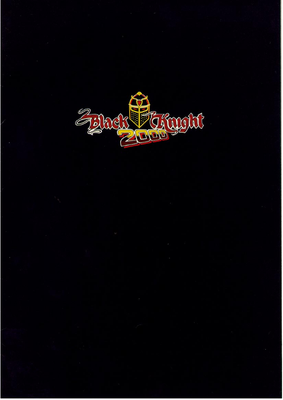 "Flyer ""Black Knight 2000"" deutsch"