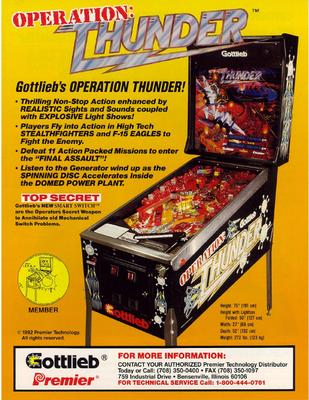 """Flyer """"Operation Thunder"""" von Gottlieb"""