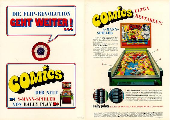 """2seitiger Flyer """"Comics"""" von Rally"""