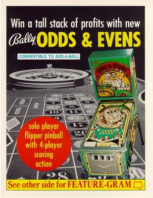 """Flyer """"Odds & Evens"""" von Bally"""
