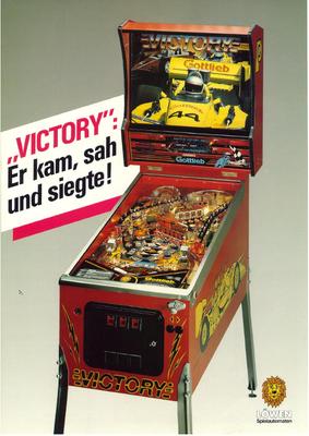 """deutscher Flyer """"Victory"""" von Gottlieb"""