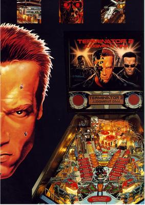 """deutscher Flyer """"Terminator 2"""" von Williams"""