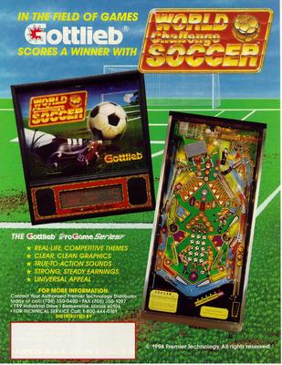 """Flyer """"World Challenge Soccer"""" von Gottlieb"""