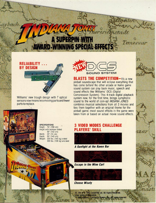 """Flyer """"Indiana Jones"""" von Williams englisch"""