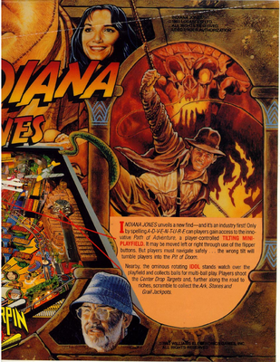 "Flyer ""Indiana Jones"" von Williams englisch"