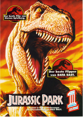 "deutscher Flyer ""Jurassic Park"" von Data East"