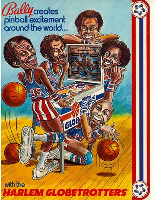 """Flyer """"Harlem Globetrotters"""" von Bally"""