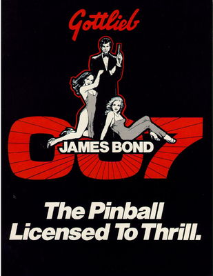 "Flyer ""James Bond"" von Gottlieb"