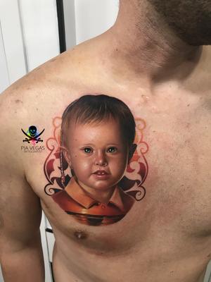 kind sohn tochter portrait tattoo