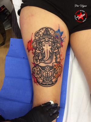 ganesha tattoo watercolor
