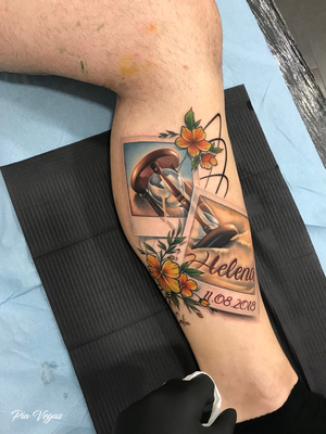 tattoo name familie sanduhr farbtattoo