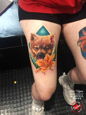 hund dog portrait tattoo
