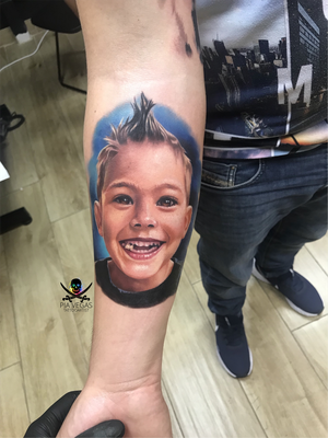 Kid portrait in full color