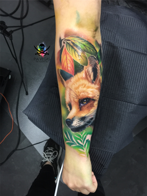 fuchs tattoo fox color