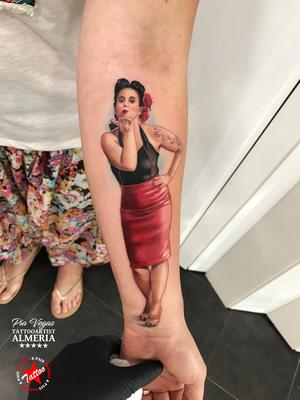 portrait tattoo farbe