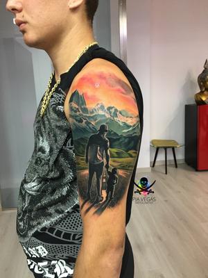 Vater und Sohn Tattoo