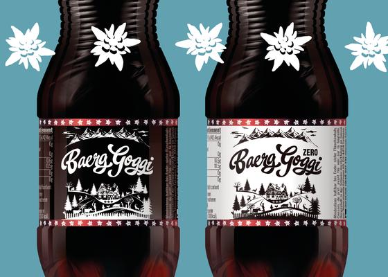 Baerg Goggi, ein Cola-Produkt aus der Schweiz