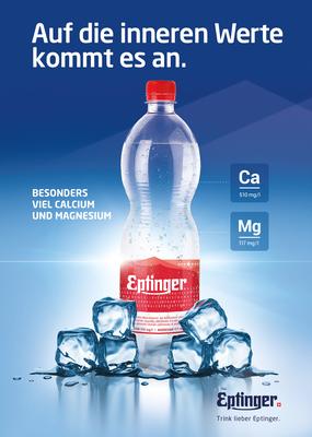 Eptinger Werbeplakat Mangesiumreich Calciumreich - auf die inneren Werte kommt es an