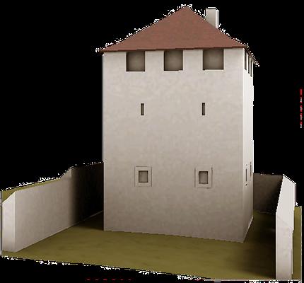 Der Turm im 14. Jh.