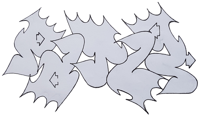 PAT23 - Graffiti Sketch Simplestyle - Fineliner