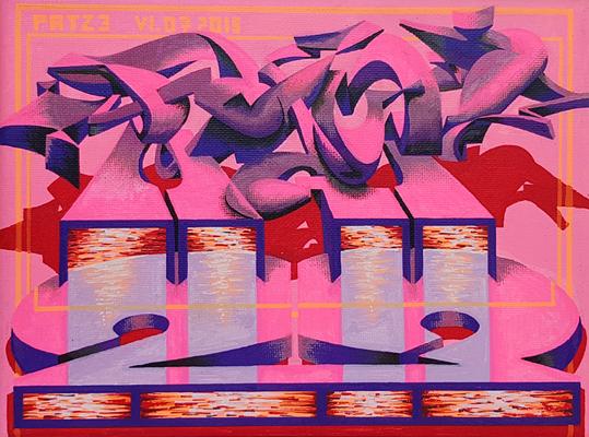 PAT23 - Graffiti Style Leinwand 24x18