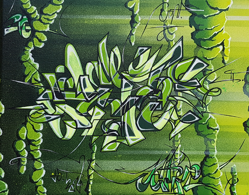 PAT23 - Graffiti Style Leinwand 30x24