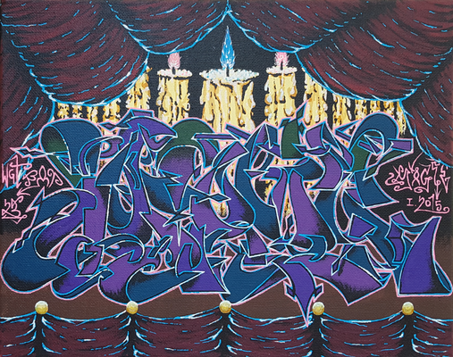 Magic - Graffiti Style Leinwand 30x24