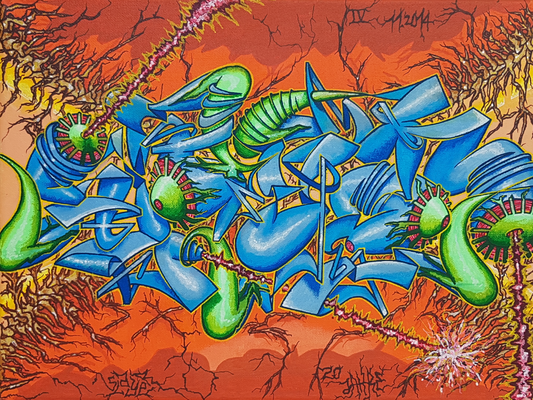 Slayer - Graffiti Style Leinwand 40x30