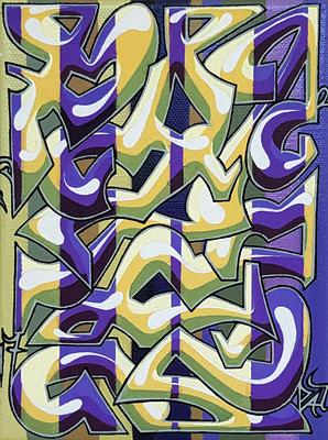 PAT23 - Graffiti Style Leinwand 15x20