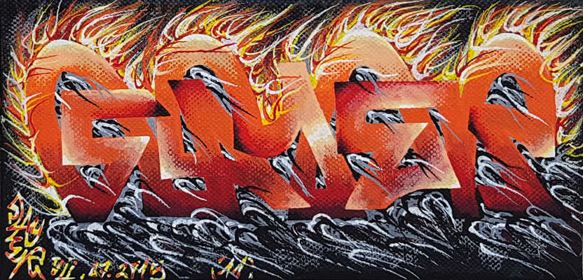 Slayer - Graffiti Style Leinwand 20x10