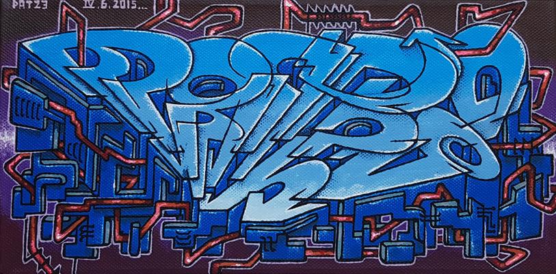 PAT23 - Graffiti Style Leinwand 30x15