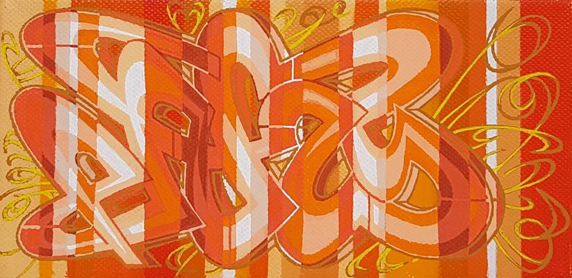 PAT23 - Graffiti Style Leinwand 20x10