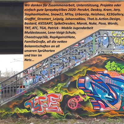 LFE Spirit (PAT23 & FRAENCISART) DAnken für Graffiti 2020