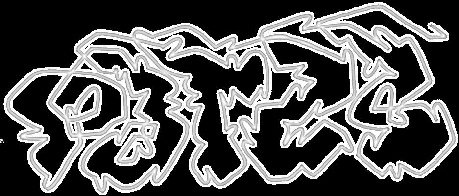 PAT23 - Graffiti Oneliner Outline