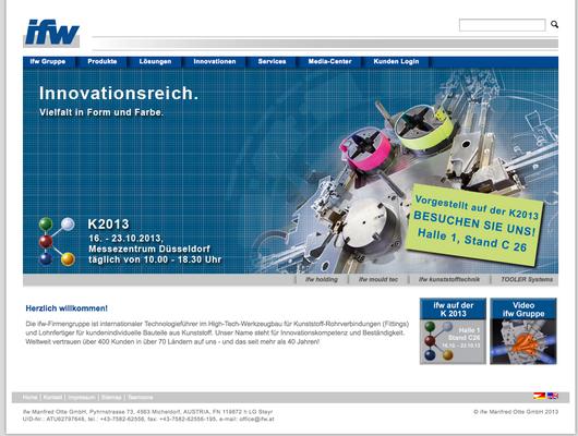 Redesign des Unternehmensauftritts - Adaption der Website mit Messeteaser