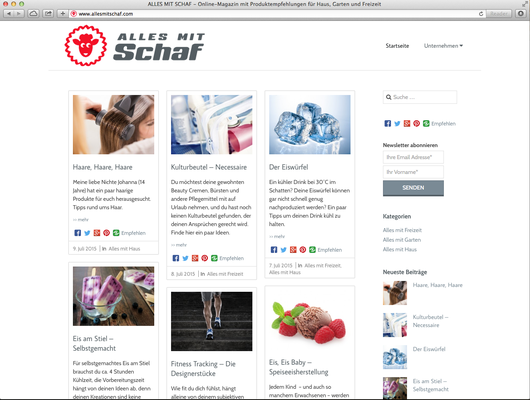 Neue Webseite und CD, Marketingberatung, SEO, Newsletter & Social Media