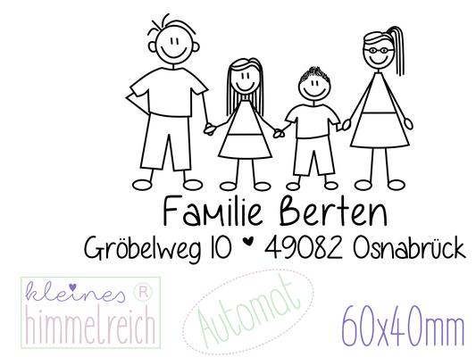 "Automat Familienstempel ""Berten"" 60x40mm"