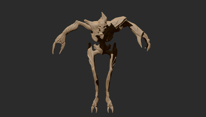 Space pirate remains 3d model  - front