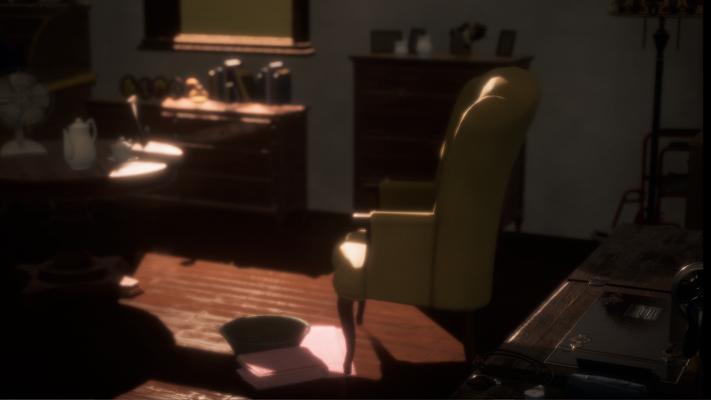 Early scene layout render