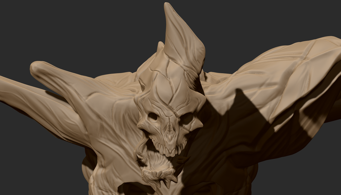 Deatil of the space pirate remains 3d model.