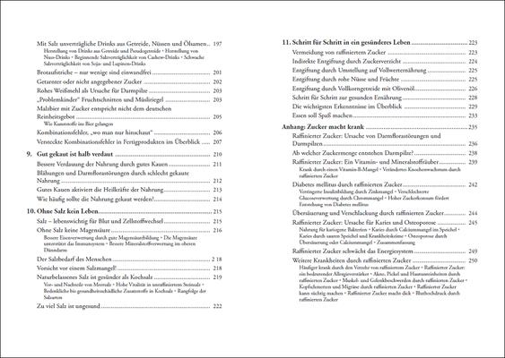 Die Grundregeln der Methusalem-Ernährung, Inhalt: Seiten 10-11, © ANEWIS Verlag