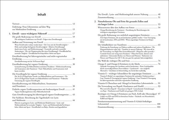 Die Nährstoff-Geheimnisse der Methusalem-Ernährung, Inhalt: Seiten 6-7, © ANEWIS Verlag