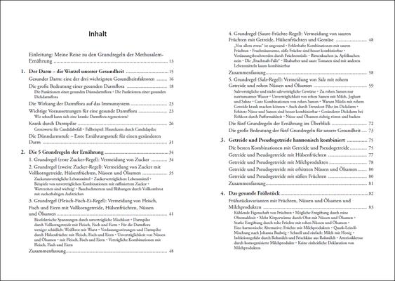 Die Grundregeln der Methusalem-Ernährung, Inhalt: Seiten 6-7, © ANEWIS Verlag
