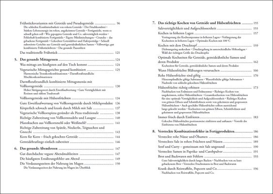Die Grundregeln der Methusalem-Ernährung, Inhalt: Seiten 8-9, © ANEWIS Verlag