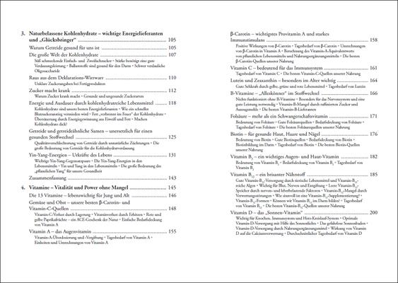 Die Nährstoff-Geheimnisse der Methusalem-Ernährung, Inhalt: Seiten 8-9, © ANEWIS Verlag