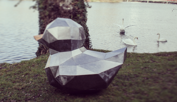 Ente Polygonal | Stahlblech